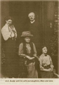 A. A. Boddy and his family